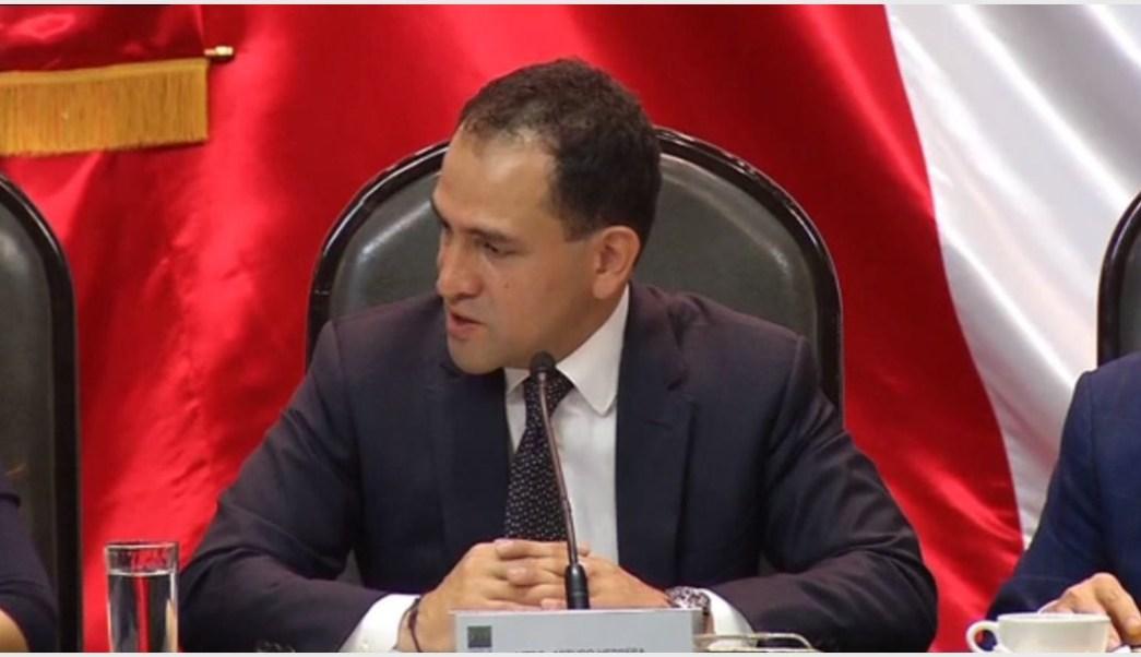 Foto: Arturo Herrera entregó esta tarde el Paquete Económico 2020 a la Cámara de Diputados, 8 de septiembre de 2019. (Noticieros Televisa)