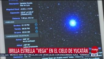 Estrella 'Vega' se podrá apreciar en el cielo de Yucatán