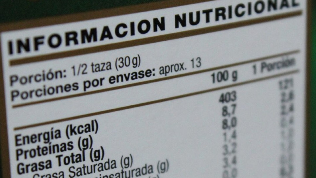 Foto: Etiquetado de alimentos