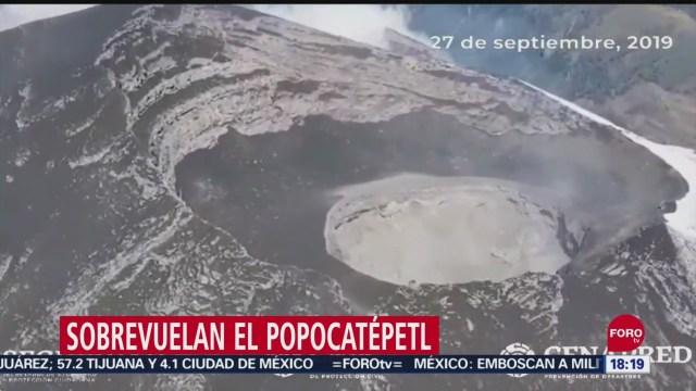 FOTO:Expertos del Cenapred y UNAM realizan sobrevuelo al Popocatépetl, 27 septiembre 2019