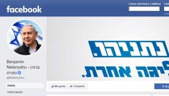 Foto: Facebook sancionó la página del primer ministro israelí Benjamín Netanyahu, 12 septiembre 2019