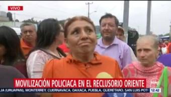 Familiares desalojados del Reclusorio Oriente CDMX narran emergencia