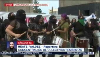 FOTO: Feministas Protestan Monumento Revolución Contra Violencia Genero