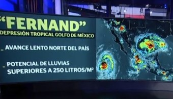 'Fernand' se degrada a depresión tropical