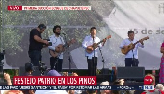 FOTO: Festejos Patrios en los Pinos, 15 Septiembre 2019