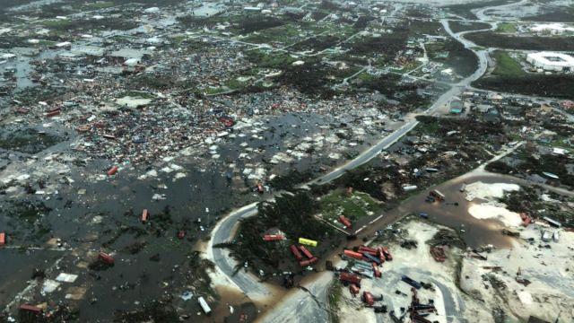 """Foto: Vista aérea de la devastación del huracán """"Dorian"""" en las islas Abaco, Bahamas. Reuters"""