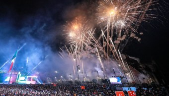 Foto: Festejos del Grito de Independencia en el Zócalo de la Ciudad de México el 15 de septiembre de 2018. Getty Images/Archivo