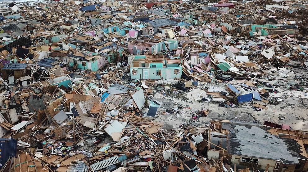 """Foto: Las islas Ábaco quedaron destruidas por el huracán """"Dorian"""". AP"""