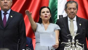 Foto: Laura Rojas rinde protesta como nueva presidenta de la Mesa Directiva de la Cámara de Diputados. Cuartoscuro