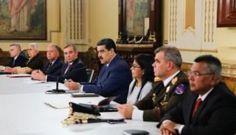 Foto: Nicolás Maduro se reúne con su gabinete en el Palacio de Miraflores en Caracas, Venezuela. @PresidencialVen