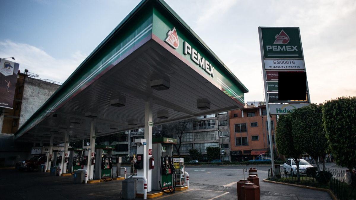 Foto: Una estación de Pemex en la Ciudad de México. Cuartoscuro