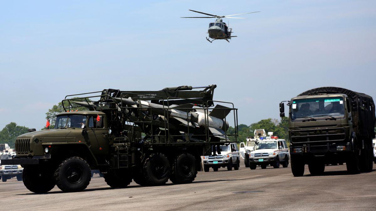 Foto: Vehículos militare del Ejército de Venezuela. Reuters