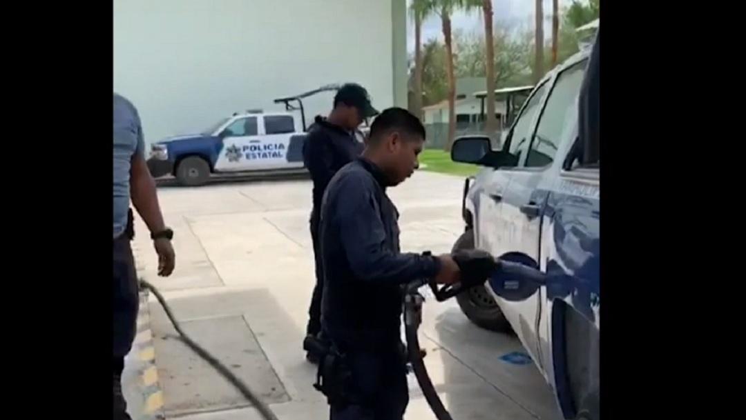 Policías y militares se quedan sin gasolina en Nuevo Laredo por amenazas del CDN