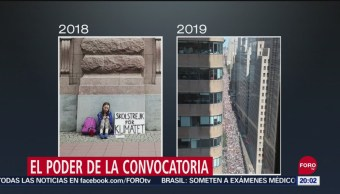 Foto: Greta Thunberg; Activista Convocatoria Cambio Climático 20 Septiembre 2019
