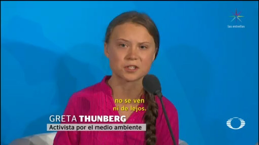 Foto: Greta Thunberg Cumbre Cambio Climático Onu 23 Septiembre 2019