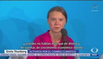 Greta Thunberg sacude a líderes durante Cumbre sobre Acción Climática de la ONU