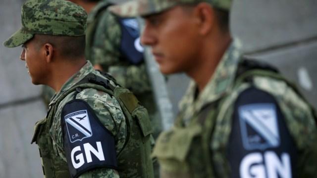 Fotografía que muestra a a elementos de la Guardia Nacional, 14 diciembre 2019