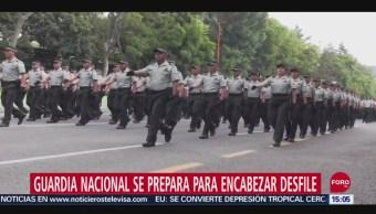 FOTO: Guardia Nacional encabezará desfile militar del 16 de septiembre, 14 septiembre 2019