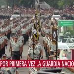 FOTO: Guardia Nacional participa en desfile militar del 16 de septiembre, por primera vez, 16 septiembre 2019