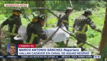 Foto: Hallan Cadáver Canal Aguas Negras Álvaro Obregón