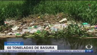 Hallan toneladas de basura en Río Blanco, Veracruz