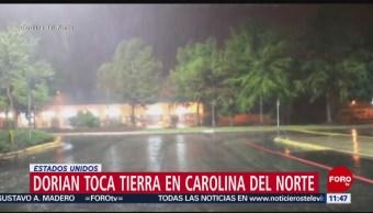 Huracán 'Dorian' toca tierra en Carolina del Norte, Estados Unidos