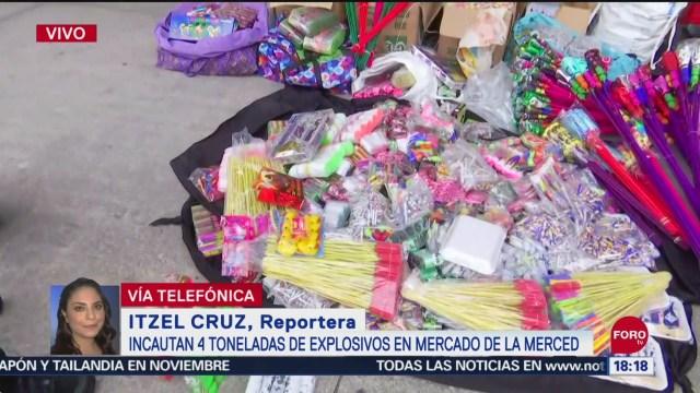 FOTO: Incautan cuatro toneladas de explosivos en Mercado de la Merced,15 Septiembre 2019