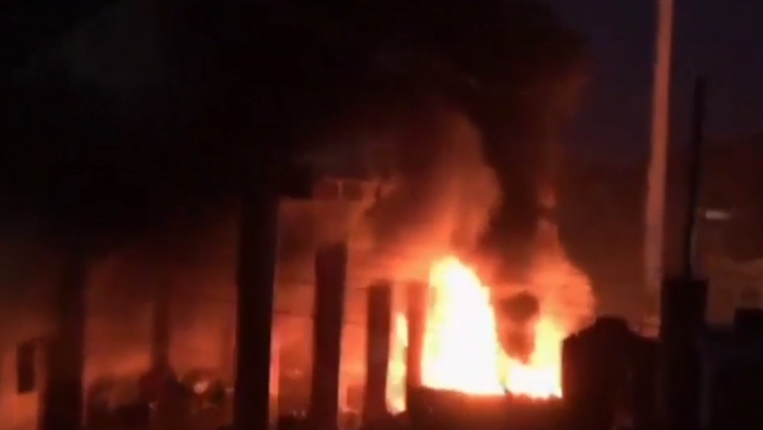 Foto: Incendian Palacio Municipal de Escuintla, Chiapas, 10 de septiembre de 2019, México