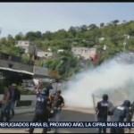 Foto: Indígenas Enfrentamiento Guardia Nacional Chiapas 26 Septiembre 2019