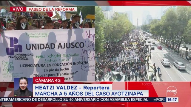 FOTO: Inicia Marcha 5 Años Desaparición 43 Normalistas Ayotzinapa