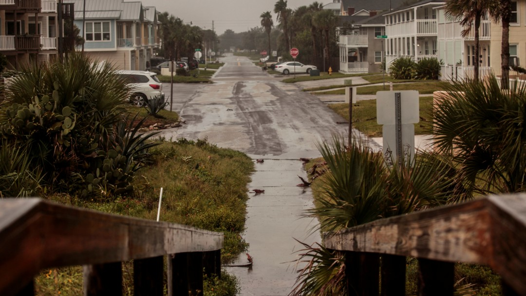 Foto: Ligeras inundaciones en Jacksonville por Dorian, 4 de septiembre de 2019, Florida