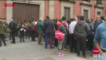 Javier Jiménez Espriú no pudo ingresar a Palacio Nacional