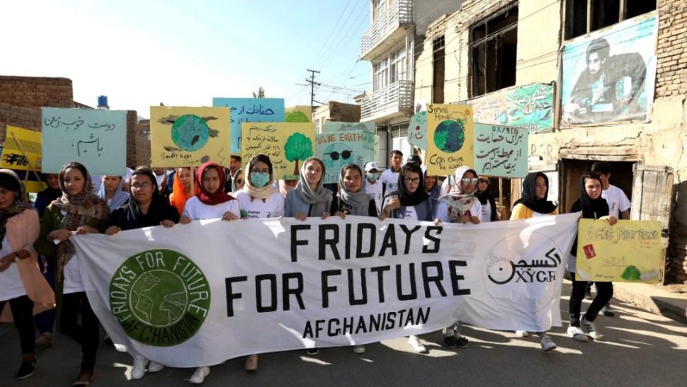 Foto: Protesta contra cambio climático,20 de septiembre de 2019, Afganistán