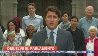 Justin Trudeau disuelve parlamento y convoca a elecciones