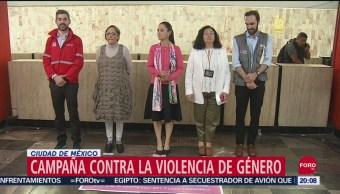 Foto: Sheinbaum Campaña Violencia Género Cdmx 25 Septiembre 2019