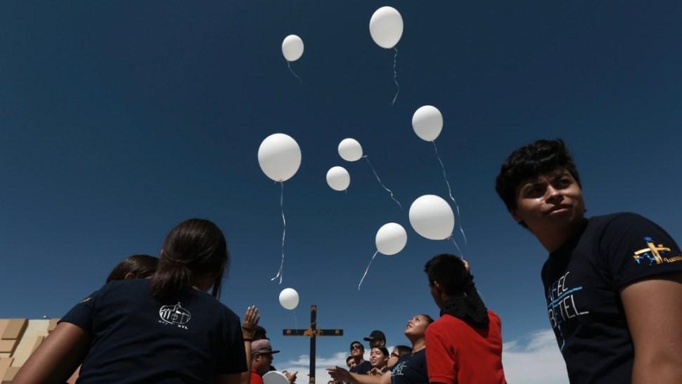 Foto: Lanzan globos blancos en Ciudad Juárez por víctimas en El Paso, Texas, 10 de agosto de 2019