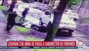 Lesionan con arma de fuego a subdirector de Ferromex