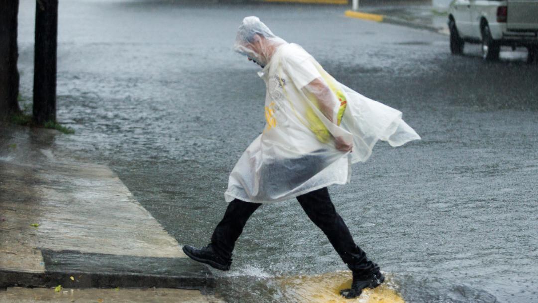 """Foto: """"Fernand"""" entró a el estado de Nuevo León, causando intensas lluvias"""
