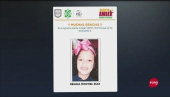 Foto: La Procuraduría General de Justicia (PGJ) de la Ciudad de México informó que fue localizada con vida la niña Regina Montiel Ruiz 25 Septiembre 2019