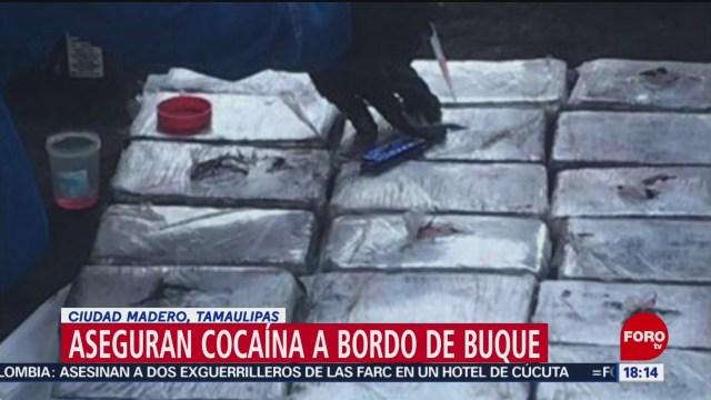 FOTO: Localizan cocaína dentro del Buque UBC Tokyo en Ciudad Madero, 7 septiembre 2019