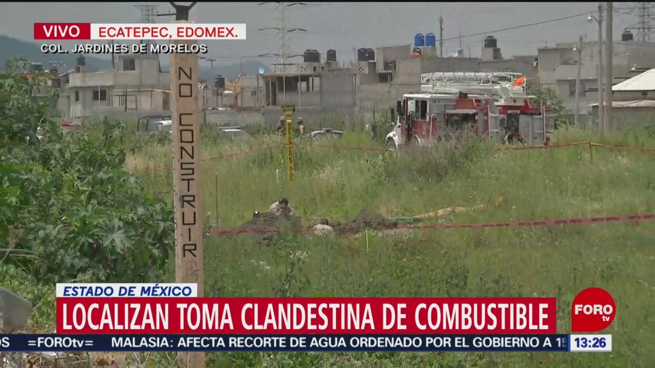 FOTO: Localizan Toma Clandestina Ecatepec Edomex
