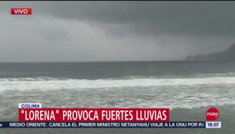 FOTO: Lorena Provoca Fuertes Lluvias Colima