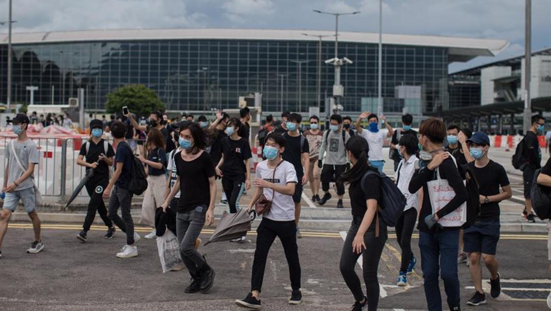 Foto: El centro financiero chino se ha visto afectado desde hace más de tres meses por manifestaciones masivas, en contra de un proyecto de ley de extradición propuesto a China, 1 de septiembre de 2019 (EFE)