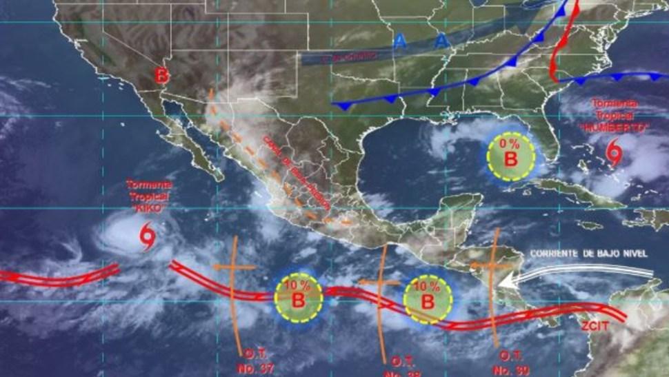 Foto: Imagen de fenómenos meteorológicos significativos de las 06:00 horas, 14 septiembre 2019