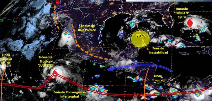 Foto: Imagen de fenómenos meteorológicos significativos de las 06:00 horas, 1 septiembre 2019