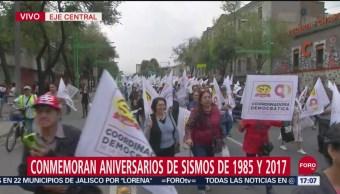 FOTO: Marchan Conmemoración Sismos 1985 2017