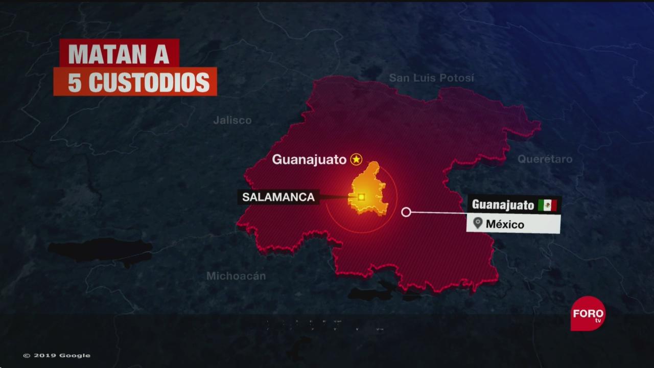 Foto: Matan Cinco Custodios Traslado Reos Guanajuato 19 Septiembre 2019