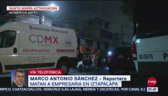 Foto: Matan Empresaria Alcaldía Iztapalapa CDMX Hoy 23 Septiembre 2019