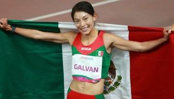 Medallista Laura Galván