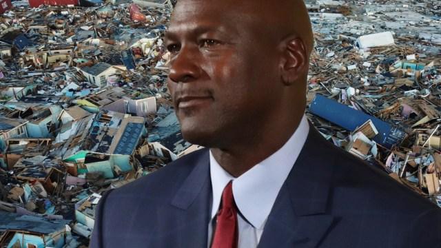 FOTO Michael Jordan donará 1 millón de dólares para damnificados en Bahamas (Composición Noticieros Televisa/AP)
